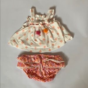 2-piece infant Jessica Simpson summer outfit